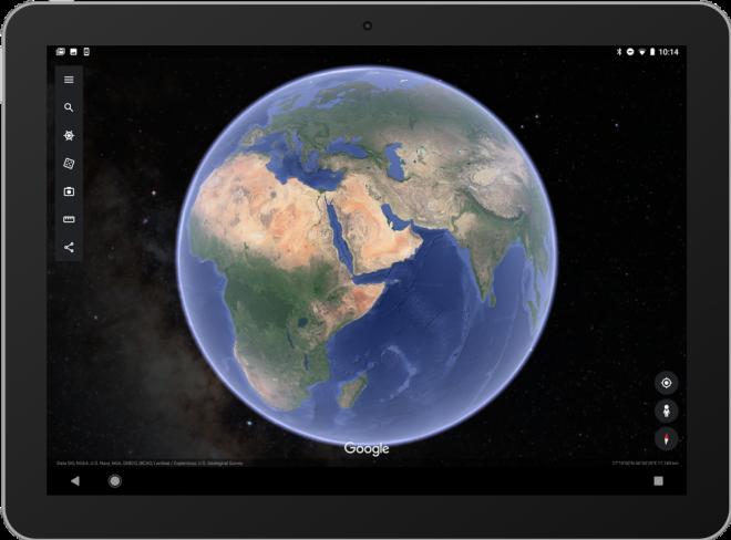 Google Earth agora mostra estrelas em volta da Terreno também na versão mobile 3