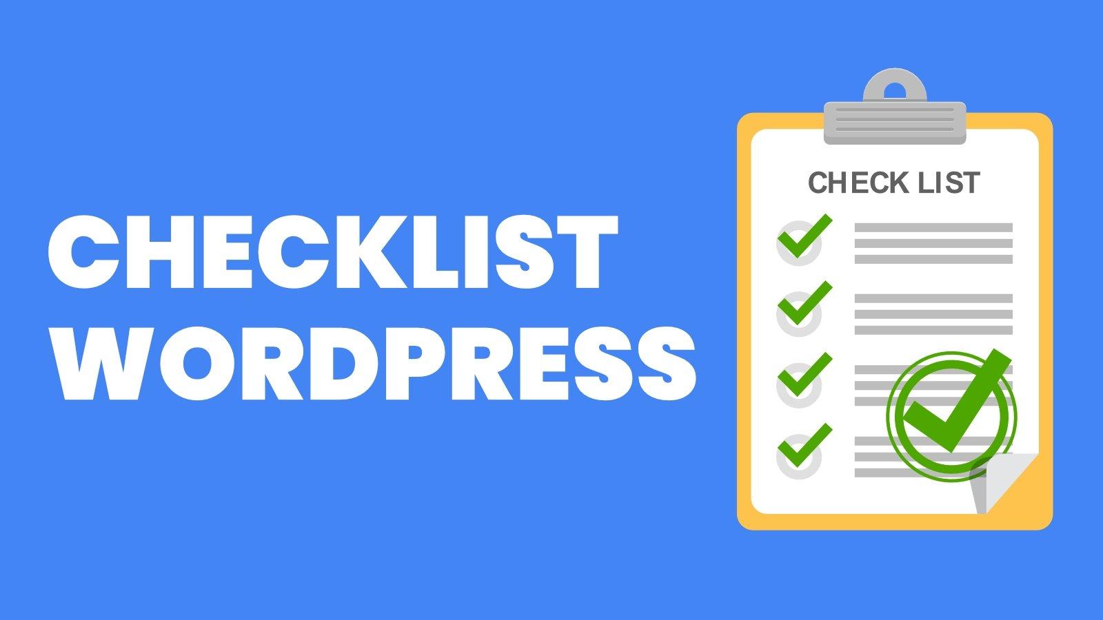 Checklist WordPress de lançamento de sites