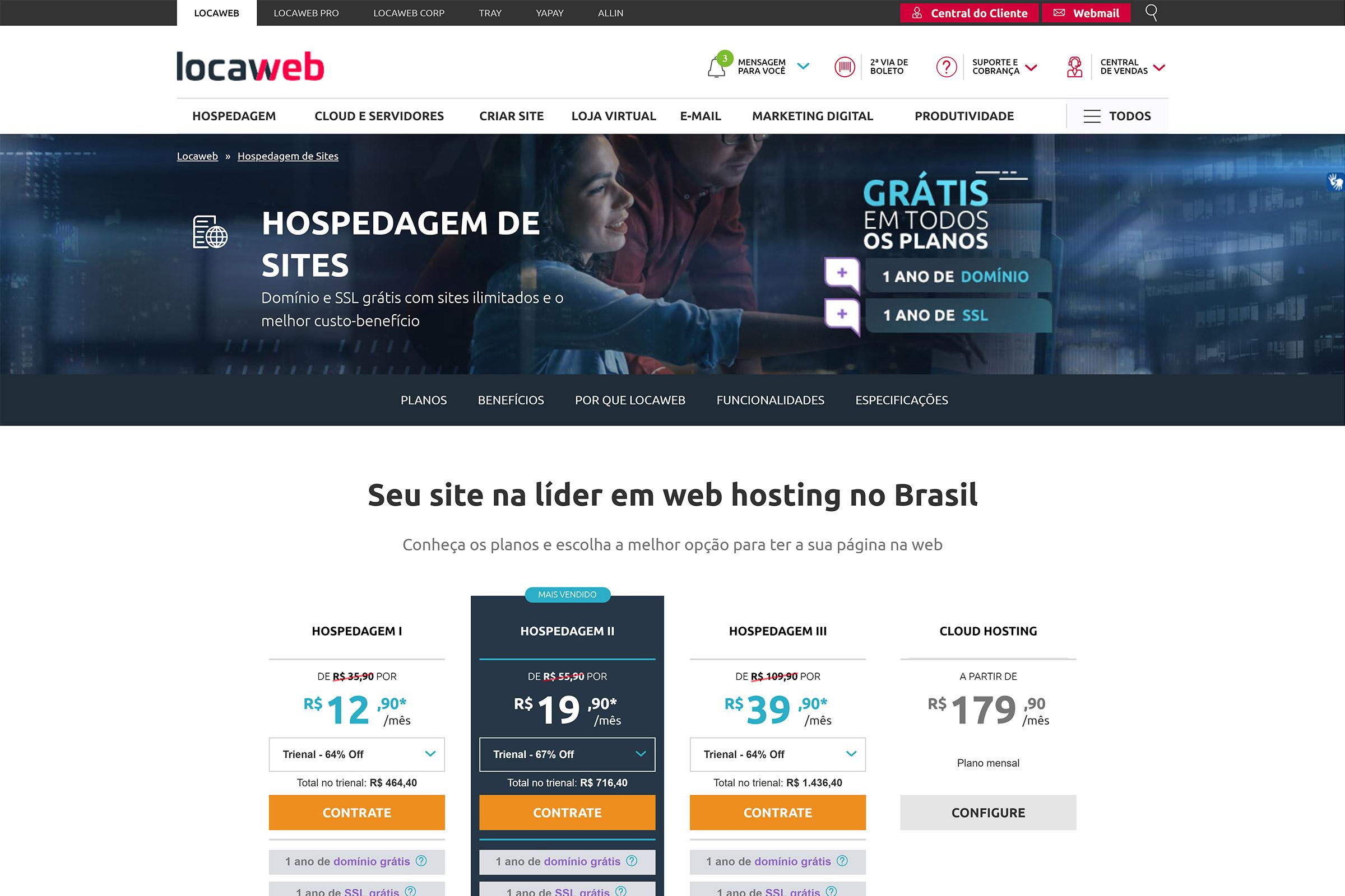 Locaweb hospedagem de blog