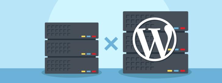 Ilustração caracterizando Hospedagem de site ou hospedagem WordPress