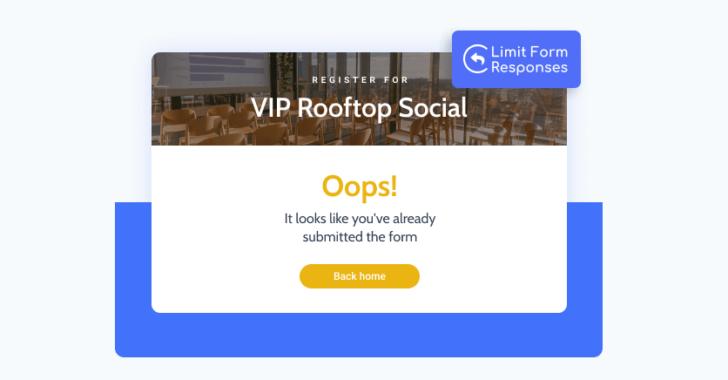 É possível limitar o número de envios de um formulário por usuário