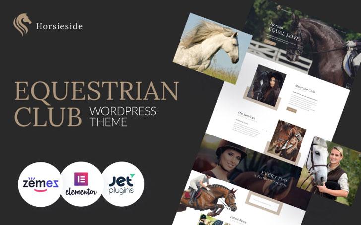 Horsieside - Tema WordPress responsivo para centro equestre